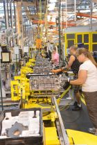The final assembly area at GM's Tonawanda Engine Plant.