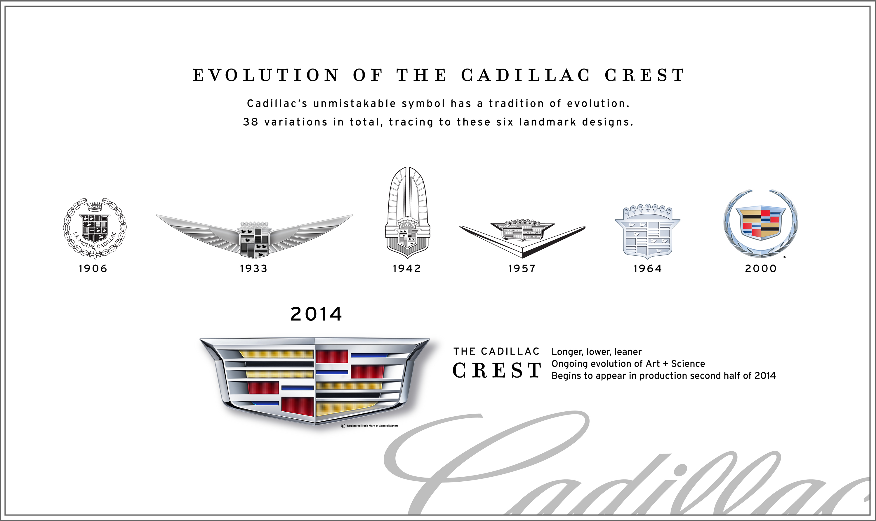 Cadillac Crest Evolves To Reflect Brand Growth