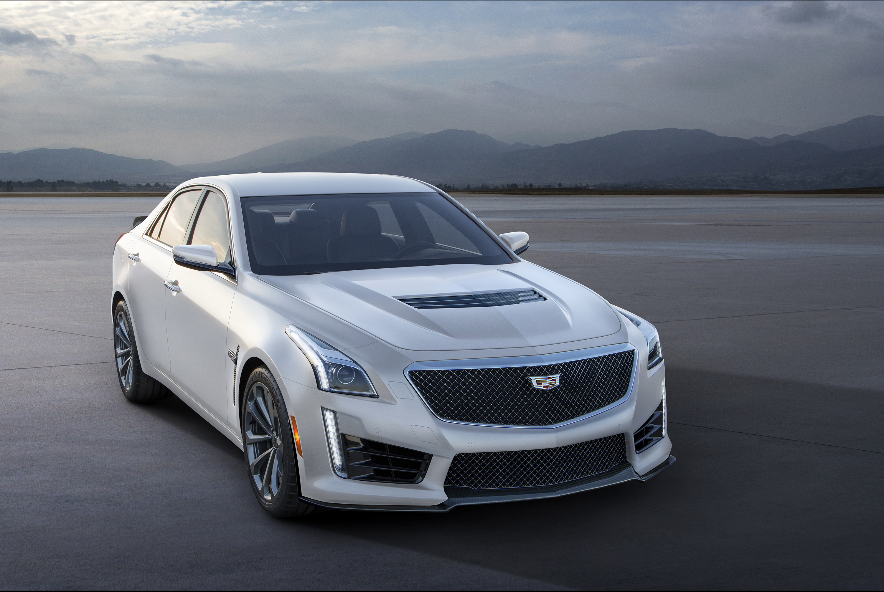 2016 Cadillac V Series Crystal White Frost Editions